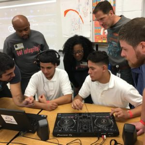 OontzKids Providing Introductory DJ Lessons near Dallas at the Irving ISD Student Reassignment Center